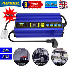 More details for new 24v 30a smart fast charger full-automatic  for forklift club car golf cart