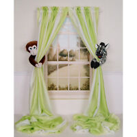 CURTAIN CRITTERS DESIGNER BABY KIDS DECOR MONKEY ZEBRA CURTAIN TIEBACK HOLDBACKS