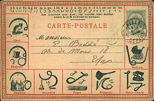 Bruxelles ~1910 Pierre Finjaer Sténographie Duployé Carte Postale seltene AK