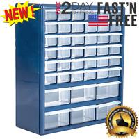 42-Drawer Hardware Craft Parts Tool Home Bin Storage Box Organizer Cabinet