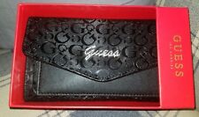 AUTHENTIC GUESS WOMEN'S WALLET BLACK TRIFOLD -NWT