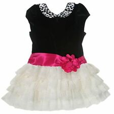 NEW Jona Michelle Girl's Boutique Dress Special Occasion Dress Ivory & Black 4T