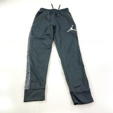 Jordan Pants Youth Small Gray White Jumpman Sweatpants Basketball Boys Kids