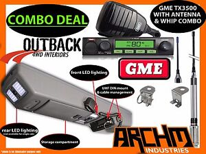 GREAT WALL V240 ROOF CONSOLE + GME UHF RADIO & ANTENNA COMBO