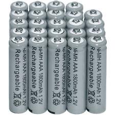 24PCS NIMH Battery 1.2V AAA 3A 1800mAh Ni-MH Rechargeable Batteries Grey US CA
