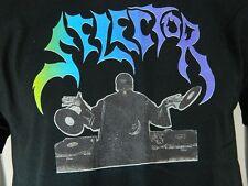 New DJ Selector Graphic Print Black Short Sleeve 100% Cotton T Shirt Medium M