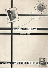 Designs & Materials 1932 Catalog Art-Fibre Student Furniture Weaving Projects