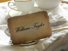 Bespoke Vintage Style Place Cards - Wedding Guests - Set of 12l