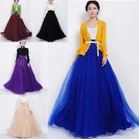 New Ladies Womens Gypsy Long Jersey Maxi Dress Skirt Lady Skirt Size 8-26
