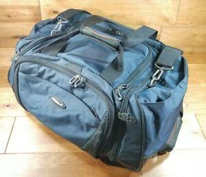 """Briggs and Riley Heavy Duty Blue Duffle Bag Weekender Medium Size~ 22""""x13""""x9"""""""