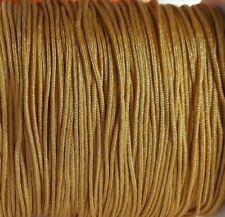 25 Auf 440 Meter Thread Makramee Spitze 0,8mm Gold Geflecht (MA-05) Kumihimo