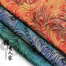 "1 meter by the yard peacock brocade tapestry satin Fabric DIY 29"", 3 colors"