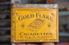 Vintage Wills Gold Flake Cigarettes Ad Litho Tin Box , London