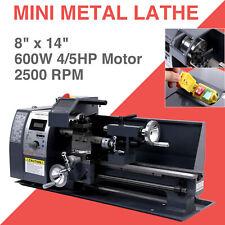 8''x14''Mini Metal Lathe Wood Lathe 600W Digital Milling Bench Power Tool