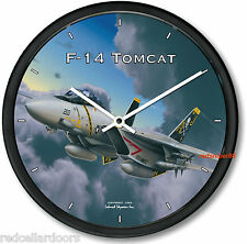 "New F14 TOMCAT Wall Clock USAF F-14 Aviator Fighter Jet WWII Aeroplane 10"""