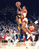 SPUD WEBB SIGNED AUTOGRAPHED 8x10 PHOTO ATLANTA HAWKS LEGEND RARE BECKETT BAS