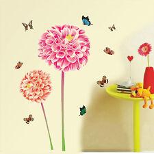 57138 | Wall Stickers Garden Dahlia Flowers with Butterflies