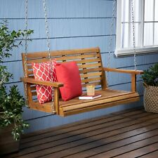 Viola Outdoor Aacia Wood Porch Swing