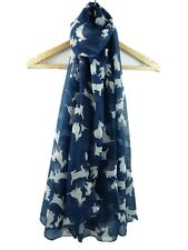 womens westie Terrier dog Animal Print Scarf designer Fashion scarves Shawl Wrap