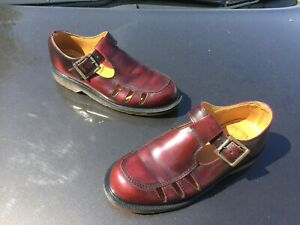 Vintage Dr Martens Deardra cherry arcadia red leather sandals UK 5 EU 38 England