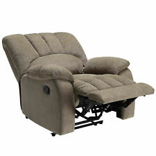 Mainstays Recliner Sofa Seat Furniture With Pocketed Comfort Coils Grey Fabric
