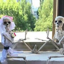 Kunststoff gegliederten menschliches Skelett Dekoration Halloween Party Prop*