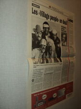 I258 VILLAGE PEOPLE THE MAMAS AND THE PAPAS '2001 BELGIAN CLIPPING