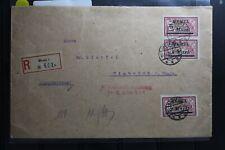 Memel 67 und 2x69 auf Brief als Mischfrankatur nach Biebrich am Rhein #BA763