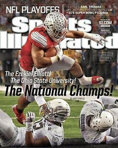 Ezekiel Elliott Ohio St NCAA Champs Sports Illustrated cover Photo -select size