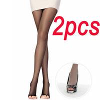 2PC Sale Women Fashion Hot Open Toe Sheer Ultra-Thin Tights Pantyhose Stockings