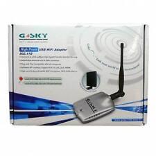 RICEVITORE WIRELESS USB ADATTATORE WI-FI 54MBPS ANTENNA 5DBI 500MW GSKY