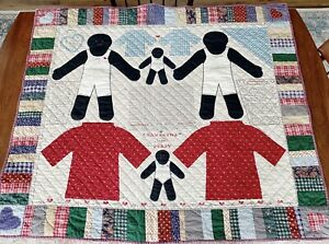 Samantha and Polly rag doll quilt by Kessler, African American