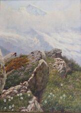 Josef Ferdinand Benesch, Interlaken, Schweiz, Jungfrau, um 1930, gerahmt,