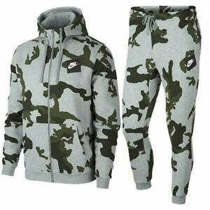 Nike Air Mens Full Tracksuit Set Camouflage Hoodie Joggers Track pants Bottoms