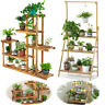 Wooden Plant Stand Indoor Outdoor Patio Garden Planter Flower Pot Stand Shelf BW