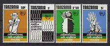 Tanzania 1978 SG#250-3 Anti-Apartheid Year MNH Set