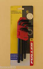 New Hex ( Allen ) Keys Plain End Long Series 9Pce Fuller Pro