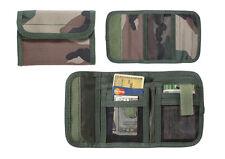 Deluxe Tri-Fold Nylon Wallet - 5 Pockets  - WOODLAND CAMO - FREE SHIPPING