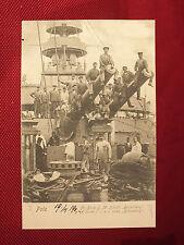 TOP - Schiff-AK - An Bord S.M. BABENBERG - Besatzung auf den Kanonen - dat. 1905