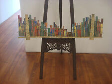 1968 C. Jere Signed Date Large Brooklyn Bridge Cityscape Enameled Sculpture