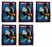 (5) 1992 Sports Cards #77 Roger Clemens Baseball Card Lot Boston Red Sox