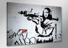 Bilder auf Leinwand banksy 80cm XXL 4172 neu Alle Wandbilder fertig gerahmt