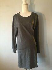 M) NWOT's CAbi **SALE** Charcoal Gray Lightwt Sweatshirt Ruched Side Dress
