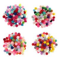Mixed Colours Craft Pom Poms Mini Pompoms Children's Craft Project 10 15 20 30mm