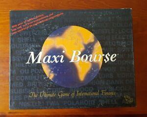 Vintage 1989 Maxi Bourse Board Game 100% Complete TSR International Finance