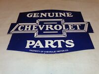 "VINTAGE GENUINE CHEVROLET PARTS 24"" X 18"" PORCELAIN METAL CAR GASOLINE OIL SIGN!"