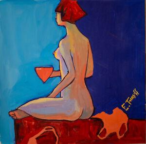 Eva Tarasoff | Russische Pop Art | Acryl Bild Gemälde Kunst Malerei Papier Akt