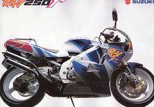 1992 SUZUKI RGV250r 4 page Motorcycle Brochure NCS