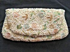 Vintage Beaded And Embroidered Fold over Clutch Gorgeous!