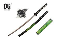"41"" Samurai Katana Sword Black Scabbard With Marijuana Leaf BRAND NEW"